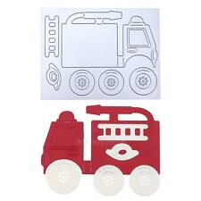 Fire Truck DIY Metal Cutting Dies Stencils Scrapbooking Album Paper Card Craft
