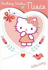 """Official Licensed Hello Kitty In Heart """"NIECE"""" Birthday Card"""