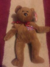 9aa27ebcb37 TY beanie babies Britannia patch flag bear made in Indonesia 1997