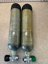 New listing Acecare 2 Liter Carbon Fiber Rebreather Cylinders w/upgraded Nautec Valves-Pair