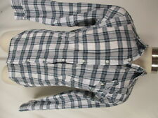 G Star Raw Mens Blue Plaid Long Sleeve Cotton Shirt L