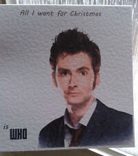 Handmade Doctor Who Christmas Card 10th Doc David Tennant. Personalised on req.