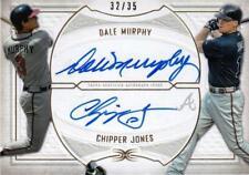 MLB Card 2019 Topps Atlanta Braves Chipper Jones Dale Murphy Dual Auto 32/35