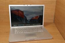 """Apple MacBook Pro A1226 15.4"""" 2.2GHZ T7500 4GB 8600M GT 128MB 250GB OSX 10.11 #9"""