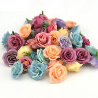 5/10Pcs Artificial Flowers Small Silk Rose Heads Flower Party Wedding Decor Gift