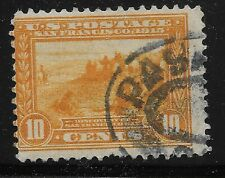 US Scott #400, Single 1913 San Francisco Bay 10c FVF Used