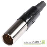 Hicon Mini XLR 4-pol Enchufe Macho/macho jack / Máximo Ø de cable 3,5mm hi-xmcm4