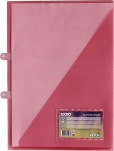 10x Angebotsmappen Präsentationsmappen Broschürenhefter zum Abheften rot