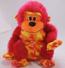 Pink Baboon Monkey Sitting Multi Color Toy Factory 100% Polyester