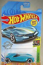 2019 Hot Wheels  #222 HW Exotics 6/10 TWIN MILL GEN-E Aqua w/White RA Spoke Whls