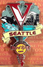 Hard Rock Cafe SEATTLE 2015 5th Anniversary PIN Inverted V Guitar - HRC #82287
