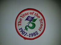 1907- 1982 Year of the Scout Woven Boy Scouts of America BSA World Jamboree