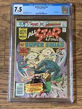 All-Star Comics #62 CGC 7.5 DC Comics 1976 Ernie Chan Cover Zanadu Appearance