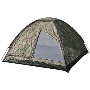 MFH Large 3 Person Monodom Tent Travel Trekking Heavy-Duty Army Operation Camo