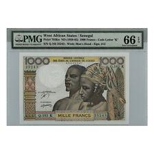 *jcr_m* SENEGAL 1000 FRANCS (1959-65) P.703KN LETTER K PMG MS-66 *UNCIRCULATED*