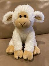 """Gund Lamb Animal Alley Plush White Tan Sheep 12"""" Baby ToysRUs 2009"""