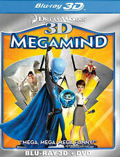 Megamind (Two-Disc Blu-ray 3D/DVD Combo) New DVD! Ships Fast!