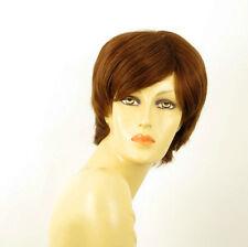perruque femme 100% cheveux naturel châtain clair cuivré ref SHARONA 30
