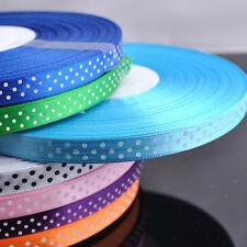 """10Yards Lots Color Printed Dots Satin Ribbon Craft/Wedding/Party 3/8"""" RG063"""