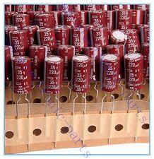 (16pcs) 220uf 35v NCC Radial Electrolytic Capacitors KY 35v220uf