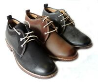 """NEW  """"FERRO ALDO"""" MENS ANKLE BOOTS LEATHER LINED LACE UP CHUKKA DRESSY SHOES"""