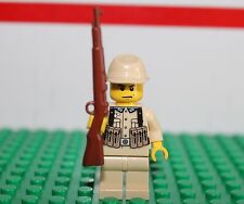 Custom WW2 German Soldier African Corp - Printed Torso   - Lego