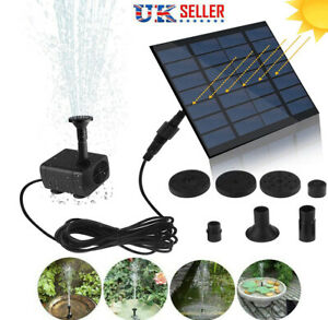 1.4W 180L/H Solar Panel Powered Water Feature Plants Pump Garden Pool Fountain