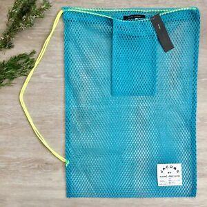 NWT Marc Jacobs Blue Mesh Travel Beach Bag
