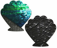 Cache-tétons nippies pasties adhésifs coquillages sirène mermaid shell sequin