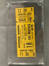 Beatles Complete Concert Ticket - Suffolk Downs - Yellow - Boston 1966