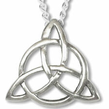 Lovely Sterling Silver Triquetra Pendant Charmed Symbol Blessed Be on the back