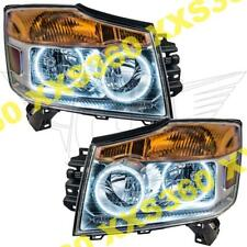 ORACLE Halo HEADLIGHTS For Nissan Armada 08-15 WHITE LED Angel Demon Eyes