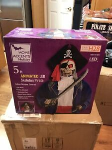 Home Accents Holiday LED 5ft. Skeleton Pirate