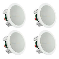 "4 Pack 5.25"" In Ceiling Speakers Home Theater 60W 8 Ohm 2 Way MTX Audio"