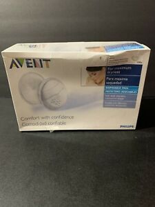 Philips AVENT Maximum Dryness Disposable Breast Pads, 100ct, White