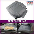 Left Driver Side Bottom Gray Pu Leather Seat Cover For 2004-08 Ford F-150 Stx Xl