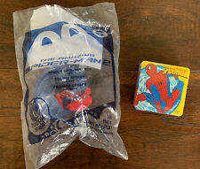 Lot Marvel's Spiderman Spidey Spinning Top Happy Meal Toy Washcloth Magic Towel