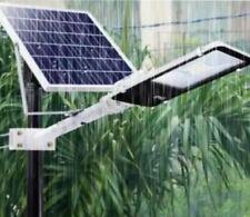 FARO LAMPIONE LED STRADALE PANNELLO ENERGIA SOLARE FOTOVOLTAICO ESTERNO 100W