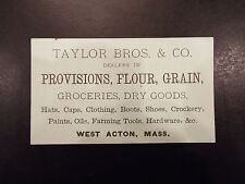 Taylor Bros Co Flour Groceries Dry Goods MA Vintage Business
