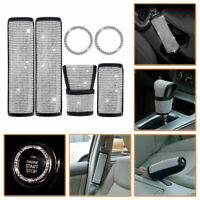 Seat Belt Cover Crystal Diamond Handbrake Bling Shift Gear Knob Cover Useful