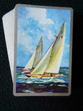 Vintage Playing Cards 1950s Congress Sailing Boat Yacht Pinochle Pack Deck 50s
