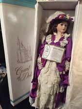 "Court of Dolls 29"" Porcelain Doll hand tag VANESSA box Victorian COA Jenny"