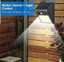 2PK £12 P48 LED Solar Power Motion Sensor Wall Light Outdoor Waterproof Garden