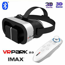 UK VRPARK V5 VR 3D Virtual Reality Phone TV Video Glasses + Bluetooth Gamepad