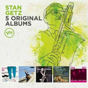 STAN GETZ 5CD NEW West Coast Jazz/Stockholm/Steamer/Cool Sounds/Chet Baker Meets