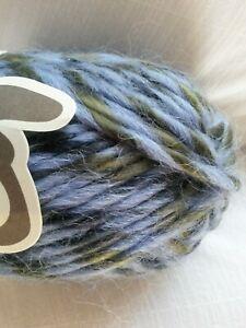 4 x 50 gms SEAN SHEEP Boho, acrylic wool Alpaca, Super Bulky 16 ply BLUE & OLIVE