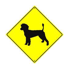 Golden Doodle Dog Symbol Crossing Animal Xing Metal Aluminum Novelty Sign 12x12