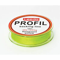 Leeda Profil Backing Fly Line Fluo Yellow, 100m Spools, Fly Fishing - 20lb