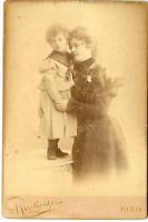 Reutlinger, Paris, Jeanne Rozier et sa fille Jeanne Vintage albumen print Tira