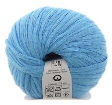 Gemini Mesh Ribbon Cotton Yarn by KATIA #14 Turqoise / 1x50g / 1.76 oz